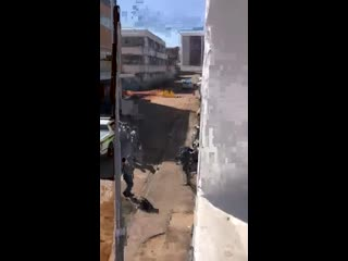 Cop shoots at cameraman in the window, south africa shoot first ask questions later