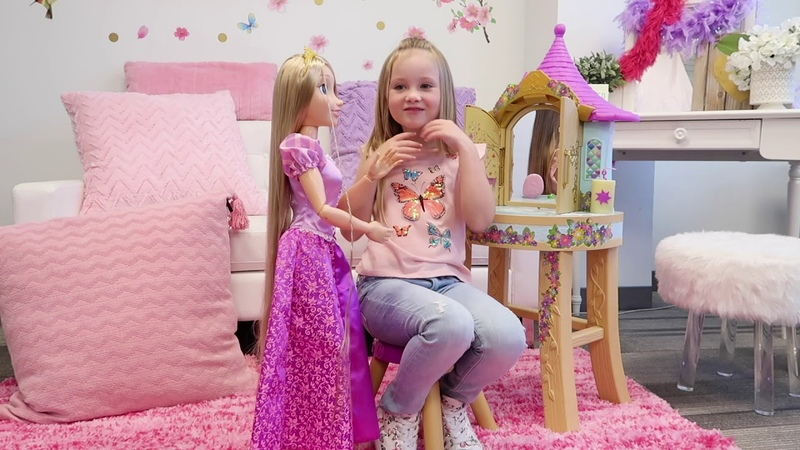 Playdate With Rapunzel's Tower Vanity | Alice's Palace | Disney Princess | JAKKS Pacific