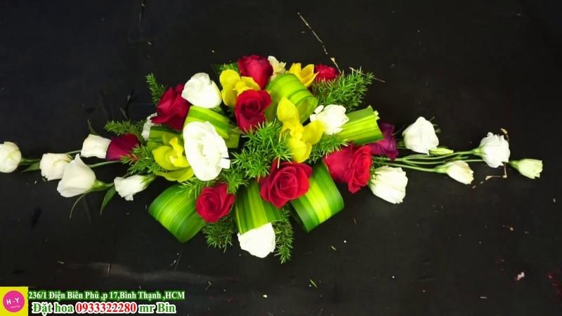 Hướng dẫn cắm bình hoa Địa Lan mix Cát Tường trắng cao cấp