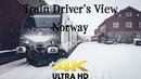 Train Driver's View: From rain to complete whiteout on the mountain