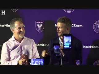 David beckman celebrates his election victory to bring a soccer team to miami