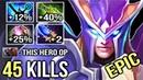 NEW IMBA HERO MID 45 KILLS 100k DMG Scepter OC Skywrath Mage Epic Gameplay by Eurus 7.21c Dota 2
