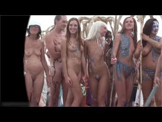 Крым, Коктебель, День Нептуна, симпатяшки нудисточки - модельки на отдыхе. Зарисовачка для группы