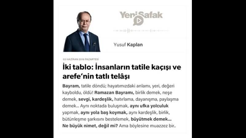 Yusuf Kaplan - İki tablo İnsanların tatile kaçışı ve arefe'nin tatlı telâşı - 03.06.2019