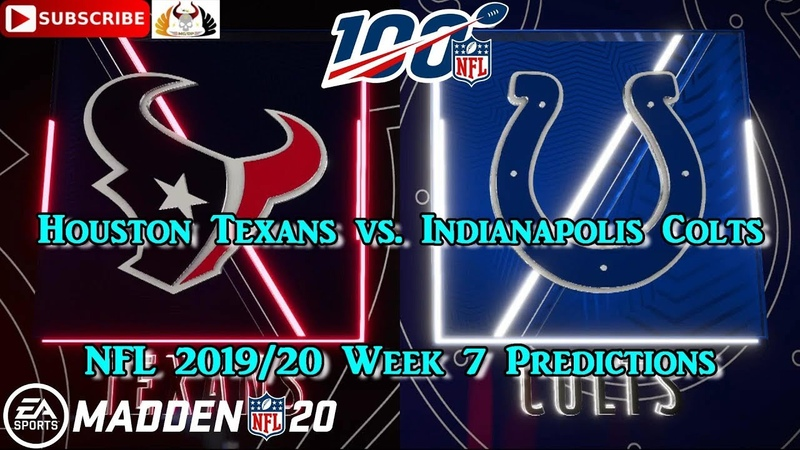 Houston Texans vs. Indianapolis Colts | NFL 2019-20 Week 7 | Predictions Madden NFL 20