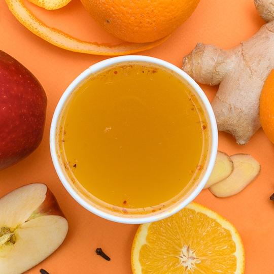 Ощути осень: Пунш апельсин–яблоко с пряностями – некофейный