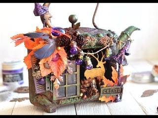 Altered Teapot Cozy Autumn by Juliya Tirskaya