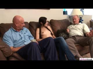 Sasha grey fucks two old men (порно)