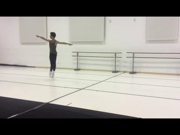 Salvatore Manzo Rehearsing 'Don Quixote' Solo