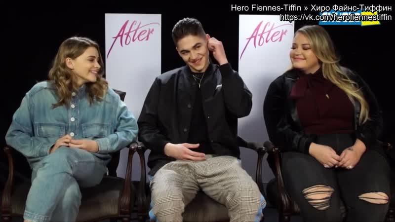 Интервью в рамках промо тура фильма После русские субтиры Милан 29 марта 2019