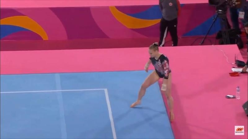 Панамериканские игры 2019 Спортивная гимнастика Женщины Индивидуальное многоборье Элли Блэк Канада вольные упражнения