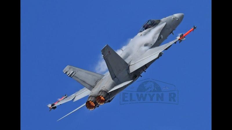 SPECTACULAR Finnish Air Force F-18 Hornet Display RIAT 2019 Best Hornet Demo Ever
