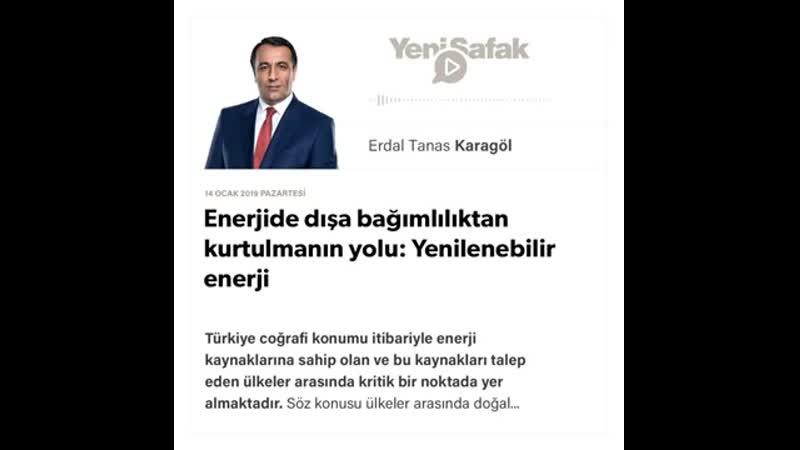Erdal Tanas Karagöl - Enerjide dışa bağımlılıktan kurtulmanın yolu ... - 14.01.2019