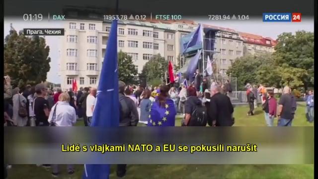 [AE News] Ruská televize informuje o skandálu okolo pomníku maršála Koněva v Praze! [CZ Titulky]