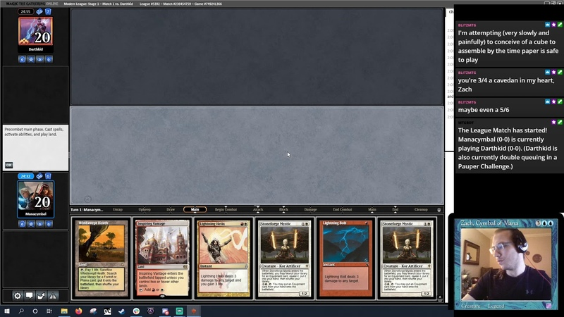 MTGO Modern RW Fervent Forger I can't believe it's not Hammer Time