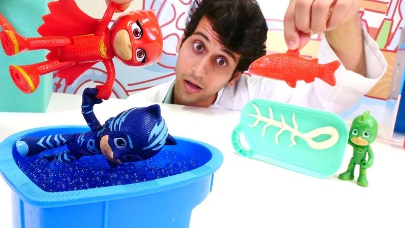 Pijamaskeliler ile oyun derlemesi Çizgi film oyuncakları adalet peşindeler