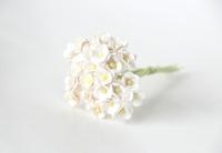 Цветы вишни мини - белые 10 шт - 49 руб  Высота 0,5 см Длина стебля 7 см