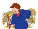 Caillou Caillou Rakes the Leaves