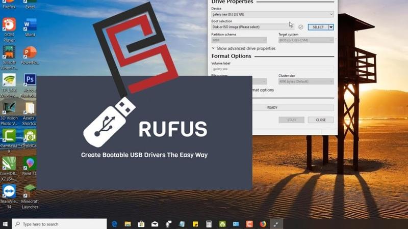 Cara Bootable Flashdisk menggunakan Rufus- Target sistem UEFI