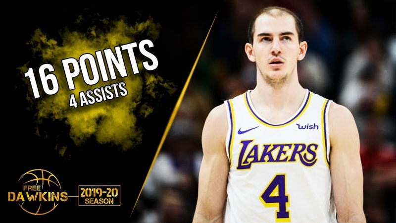 Alex Caruso Full Highlights 2019 12 08 Lakers vs TWolves 16 Pts 4 Asts FreeDawkins