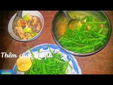 Bữa cơm đạm bạc mắm cà rau muống hai chú cháu Simple meal with Eggplant NHT Vlogs