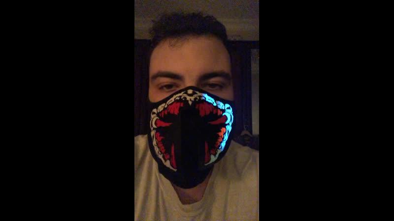Неоновая маска кровосос 🦟 Izbambuka