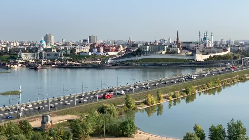 Красивая Казань. Вид с колеса обозрения парка Кырлай