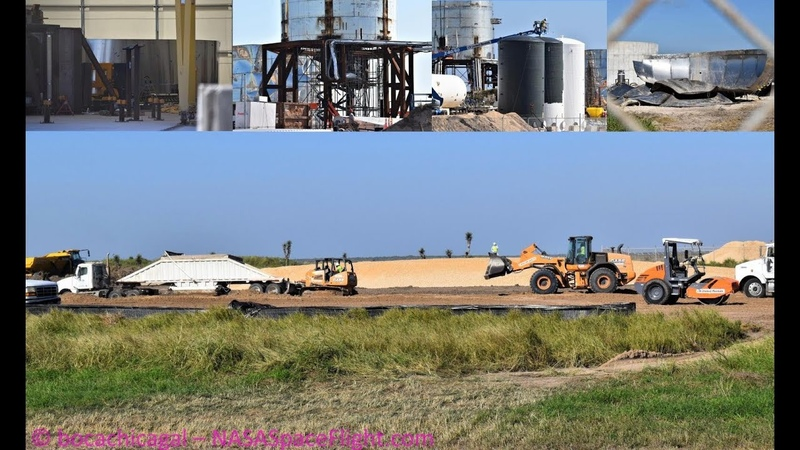 SpaceX Boca Chica - Ground Control Preps - Mk3 Rings - Mk1 Disassembly Continues