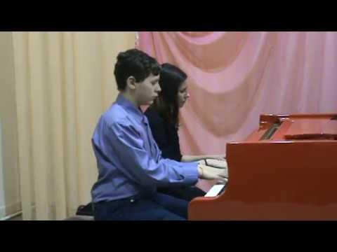 Фортепианный ансамбль: Анастасия и Никита Андреевы, «Вальс» из к/ф «Петербургские тайны»