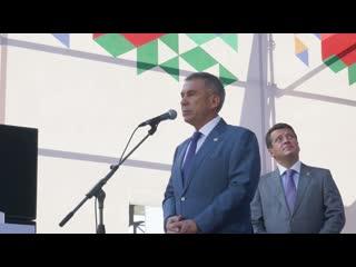 Визит Президента Татарстана Рустама Минниханова на Казанский Молочный Комбинат 2 июля 2019 года