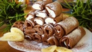 Шоколадные Блинчики с Творожно-Банановой Начинкой!