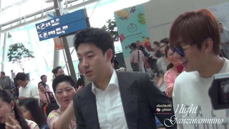 Lee Min Ho 20150807 Incheon Airport 중국 출국