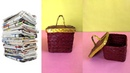 How to make a Newspaper Storage Container | Best out of waste