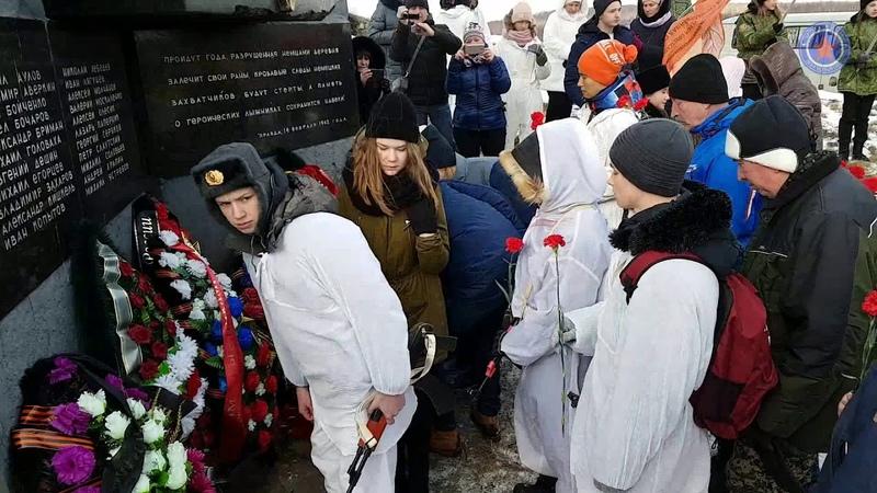 78я годовщина последнего боя лыжников чекистов у деревни Хлуднево 23 01 2020г