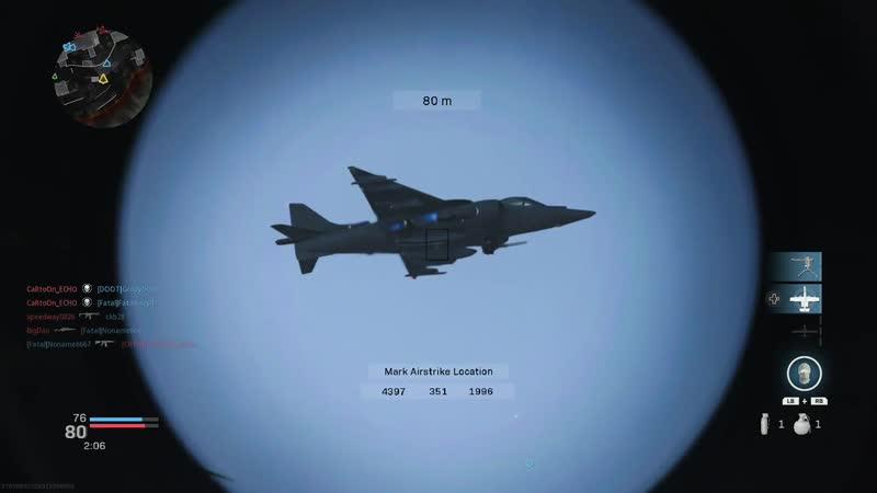 In case you were wondering if a precision airstrike can take down a VOTL Jet. Modern Warfare