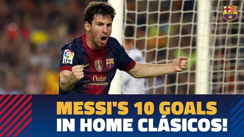 BARÇA - REAL MADRID   All of Messi's 10 El Clásico goals at Camp Nou