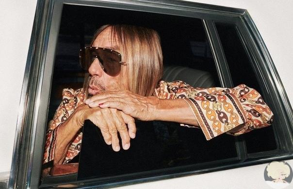 Старина Игги новой рекламной кампании Gucci.