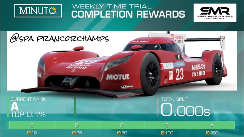 Real Racing 3 WTT Hot Lap Group A With Braking Acc. Points Nissan GT-R LM NISMO (2015)