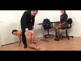 Boss is punishing a secretary and slap on her butty butt ass submissive humilation russian lesbians kissing masturbation