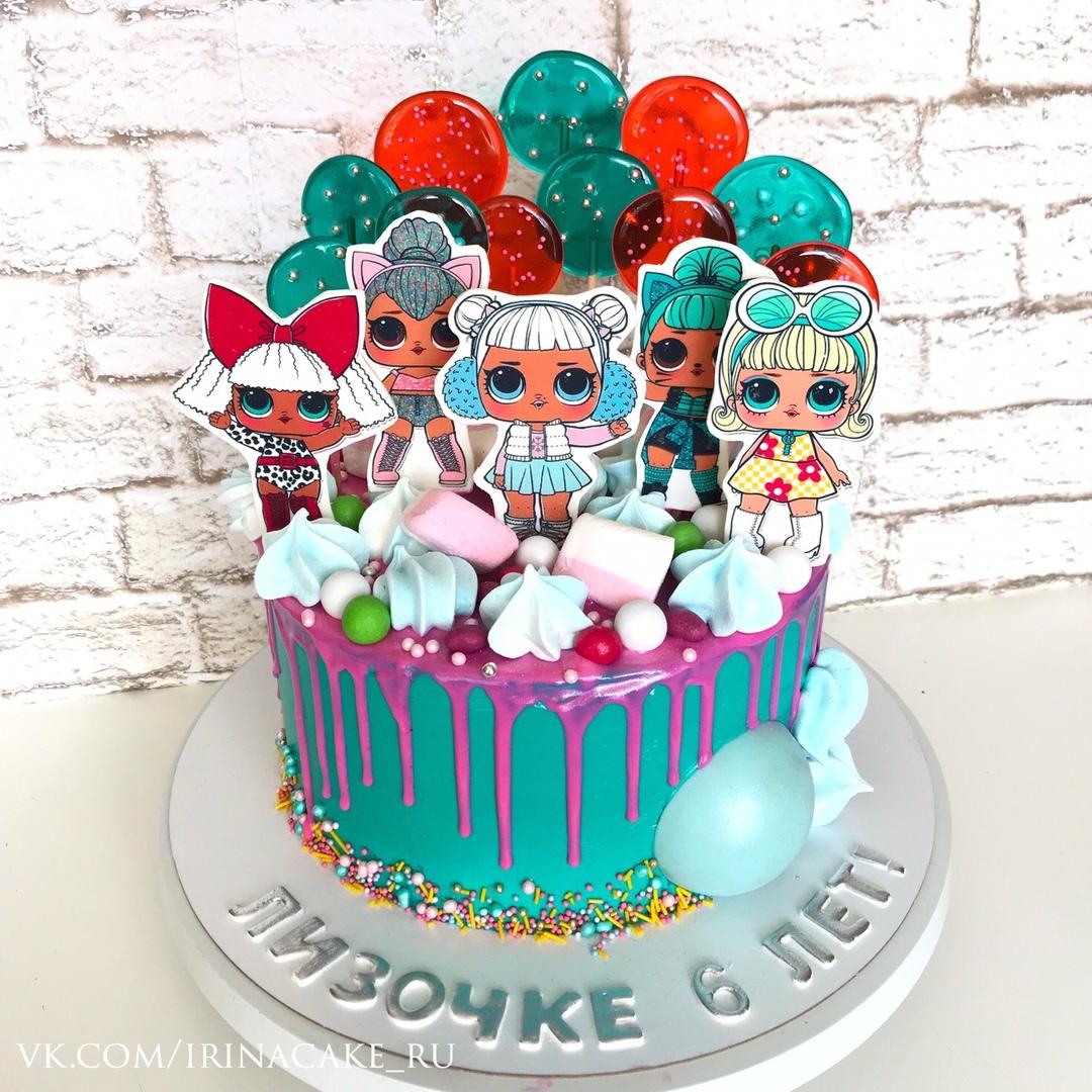 Торт с куклами Лол (Арт. 504)
