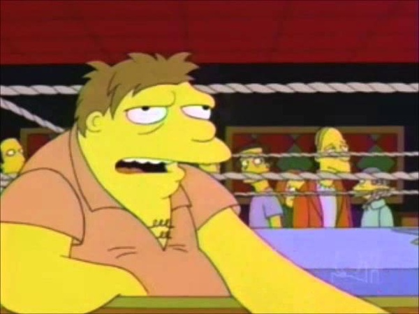 Barney Gumble Would Never Get Into A Ring