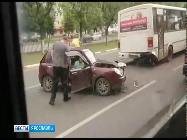 Тройное ДТП в Дзержинском районе Ярославля