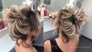 Coc Texturat Evening Hair Style Текстурныи Пучок