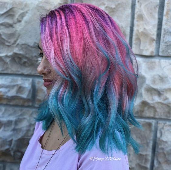 Синий цвет волос 2019-2020: самые модные идеи и сочетания