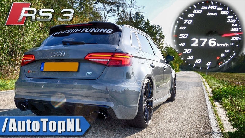 450HP AUDI RS3 8V 0-276km/h ACCELERATION LAUNCH CONTROL DRAGY DATA by AutoTopNL