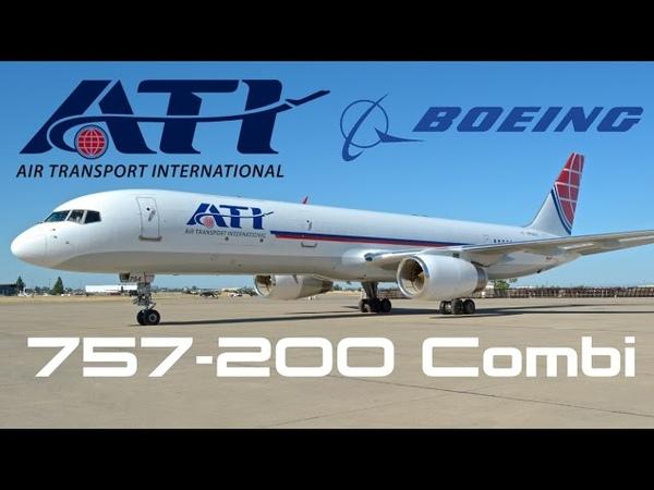 Inside the ATI Boeing 757 200 Combi HD