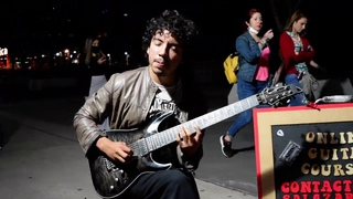 Far Beyond The Sun - Yngwie Malmsteen - Amazing street guitar performance - Cover by Damian Salazar