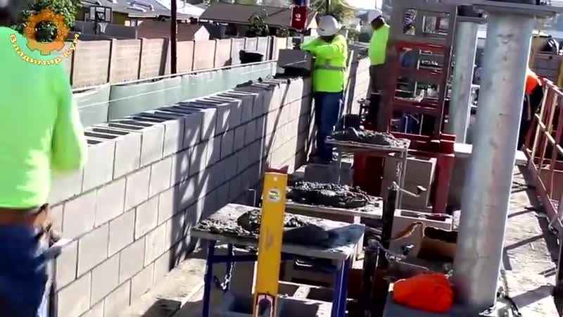 Как работают каменщики в Америке