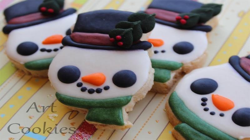 Galletas Cómo hacer un sencillo Muñeco de Nieve