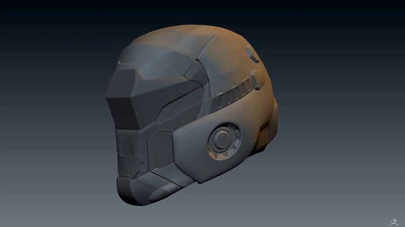 Helm turntable Ski Fi Soldier WIP